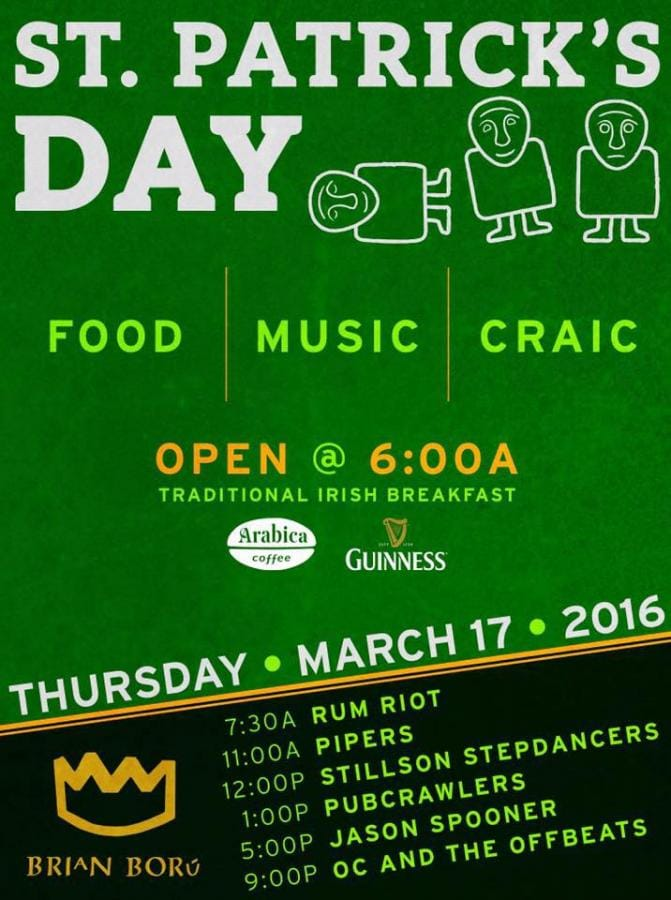 Brian Boru St. Patrick's Day Celebration!