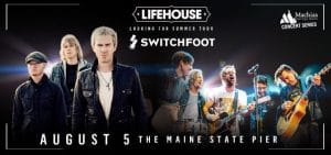 Lifehouse and Switchfoot @ Maine State Pier