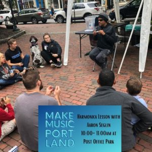 Harmonica Lesson with Aaron Seglin @ Post Office Park   Portland   Maine   United States