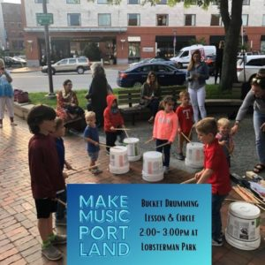 Bucket Drumming Lesson and Circle @ Lobsterman Park   Portland   Maine   United States