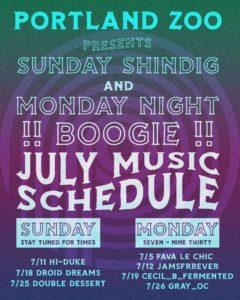 Monday Night Boogie @ The Portland Zoo | Portland | Maine | United States