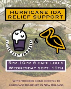 Hurrican IDA Relief Support @ Cafe Louis | South Portland | Maine | United States