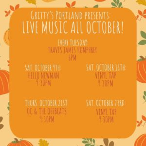 Live Music October at Gritty McDuff's @ Gritty McDuffs   Portland   Maine   United States