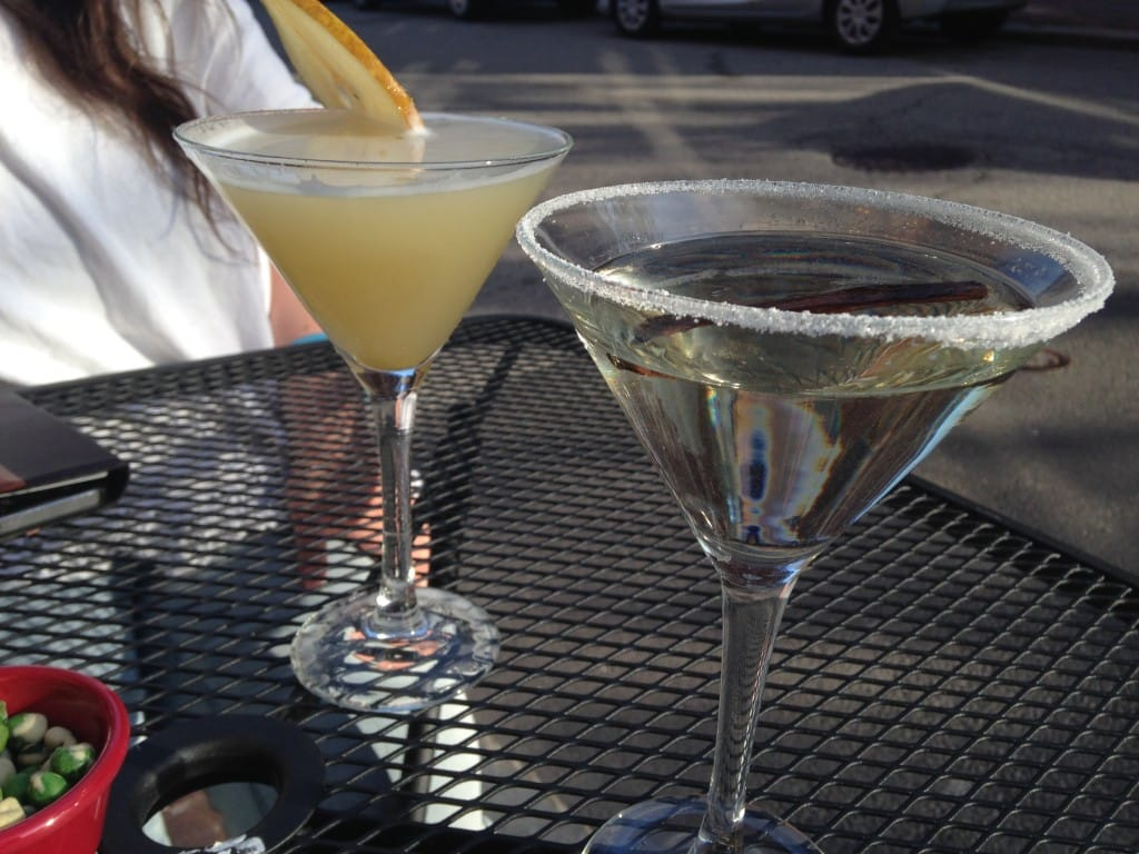 The d'anjou pear martini and the vanilla bean martini.