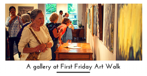 A gallery at First Friday Art Walk 450