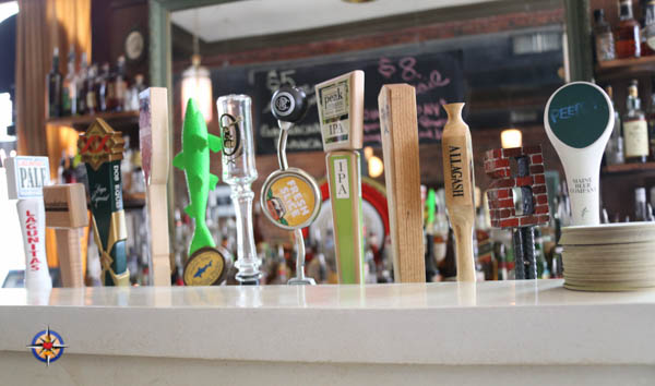 maine beers on tap at sonny's