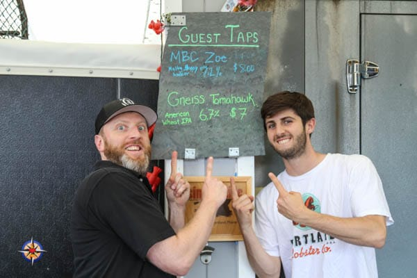 portland lobster company local rotating beer taps
