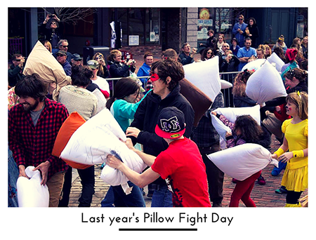 Last year's Pillow Fight Day 450