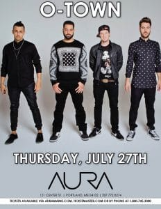 O-Town & Ryan Cabrera With Dean Ford and The Keepsakes @ Aura
