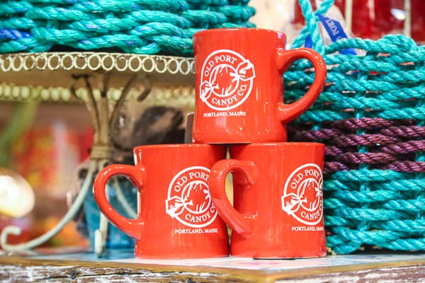 maine coffee mugs old port candy