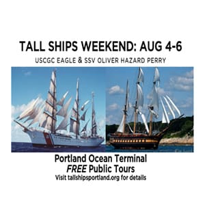 Tall Ships Weekend: USCG Eagle & Oliver Hazard Perry in Portland @ Portland Ocean Terminal